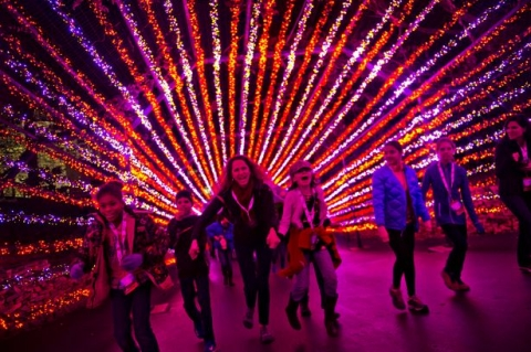 Six Flags lights up for the holidays