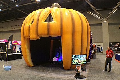 Inflatable Pumpkin Tunnel Wows Crowds at Fall Festivals