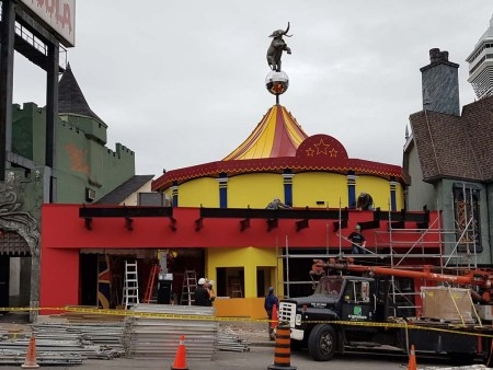 "Progress being made at ""Big Top – Amazing Mirror & Laser Maze"""